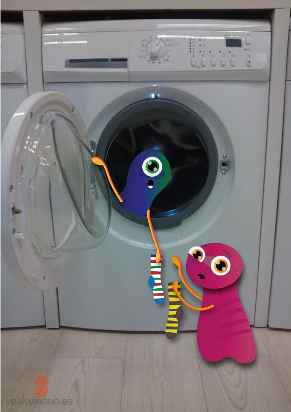 ¿Dónde van los calcetines? ¿Cuando se te pierde un calcetín en la lavadora va a un universo paralelo?....Ah! Así que eras tú todo es te tiempo mi pequeño Bakemono. Pero...¿Para qué los quieres? ¿Y por qué solo uno? ¿Por queeeeé?