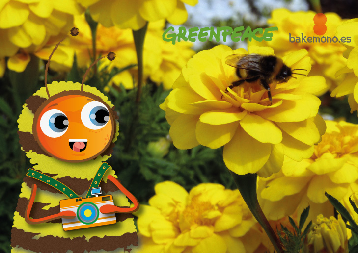 Bee, Bee BeeNstagram! @greenpeace_esp Salva a las abejas. Sin ellas no habría polinización. Firma para protegerlas